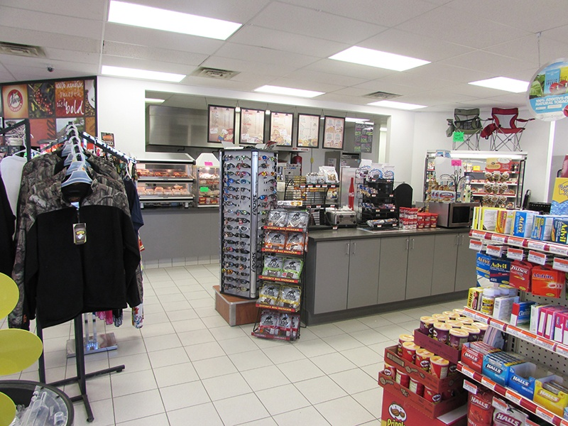 Deli and snack aisles at Bemidji coop convenience store