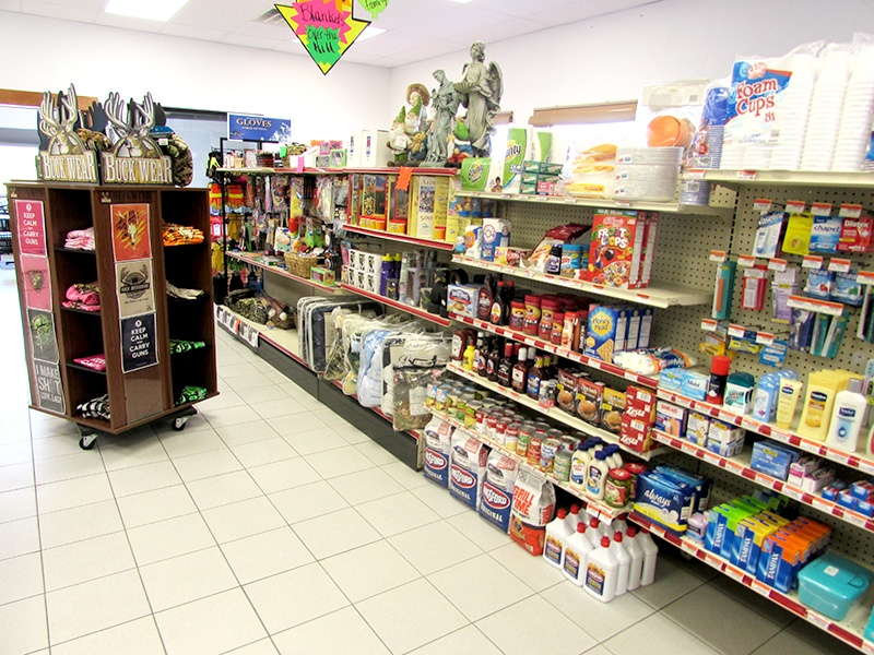 grocery selection aisle at bemidji coop convenience store